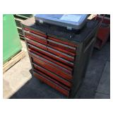 9 DRAWER TOOL CHEST WITH WHEELS AND TOOL BOX