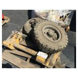 FORKLIFT WHEELS AND ATTACHMENT
