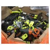 1 LOT OF RYOBI AND RIDGID POWER TOOLS WITHOUT BATT