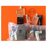 2 BAGS WITH MISC. DESIGNER COLOGNES
