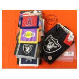 1 BAG WITH MISC. SPORTS WALLETS & LUNCH BAG