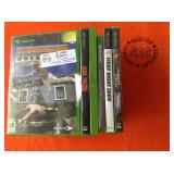 1 LOT OF XBOX VIDEO GAMES & DVDS