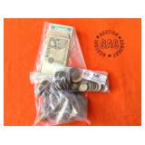 3 BAGS OF MISC. COINS & BILLS