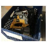 CRATE OF POWERTOOLS DEWALT POWER DRILL APPROX. 3 P