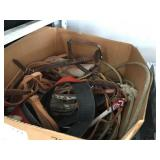 LOT OF HORSE COLLARS AND LASSOS