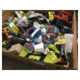 LOT OF  REFLECTORS BLOWERS AND RYOBI INDUSTRIAL