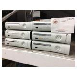 1 LOT OF 6 XBOX 360 CONSOLES