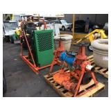 JOHN DEER ENGINE W/ WATER PUMP ENGINE MODEL 4045TF