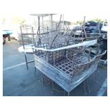 1 LOT OF PATIO TABLE TOPS & CHAIRS