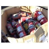 1 BOX OF FIRE EXTINGUISHERS