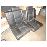 2 BLACK LEATHER AUTO SEAT UNITS