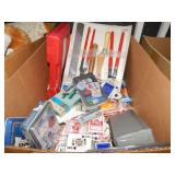 1 BOX OF DECKS OF CARDS, DOMINOS & HOME GOODS