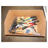 1 BOX OF BOLT CUTTERS & HAMMERS