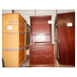 CHERRY WOOD SHELF & DRESSER BEDROOM SET Came from