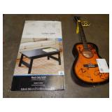 SUNLITE ACOUSTIC GUITAR & COFFEE TABLE