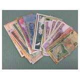 1 BAG WITH MISC COLLECTABLE PAPER MONEY