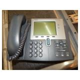 1 PALLET OF CISCO DESK PHONES CISCO TWO LINE IP PH