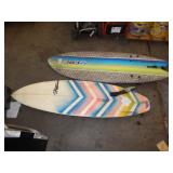 2 SURF BOARDS T-PATTERSON & FOAM SURFBOARDS