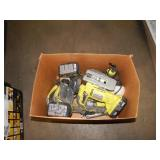 1 BOX OF RYOBI POWER TOOLS