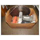 BOX OF CONCRETE BLADES, METERS & SIGHT FINDERS