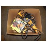 1 BOX OF DEWALT & RYOBI POWER TOOLS