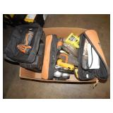 1 BOX OF MISCELLANEOUS POWER TOOLS