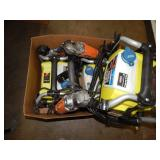 BOX OF PRESSURE WASHERS & RIDGID POWER TOOLS