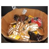 1 BOX OF ASSORTED HIPZBAG HAND BAGS