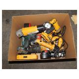 1 BOX OF POWER TOOLS