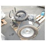 1 LOT OF TIRES PRESSURE WASHER & COMPRESSOR RACEMA