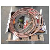 1 PALLET OF TOW CABLES, AIR HOSES, & MISC. TOOLS T