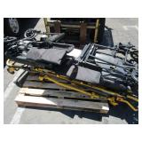 PALLET WITH WHEEL CHAIRS AND AMBULANCE  GURNEY