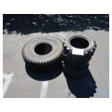 3 SMALL TIRES 23X8.5-12 1 LARGE TURF PRO TIRE R-3