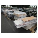SHELVING, ASSORTED CUBICLE SECTIONS, CABINETS