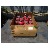 BOX OF FIRE EXTINGUISHERS