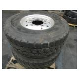 PALLET WITH 2 USED  MICHELIN 425/65R/22.5 TIRES ON