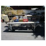 2 CAFETERIA CONVEYORS, 2 METAL WIRE SHELVE UNITS,