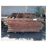 PALLET OF SCAFFOLDING SIDES