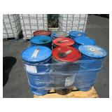 PALLET OF 9 DRUMS WITH CHEVRON COUPLING