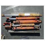 PALLET OF FOUR HYDRAULIC CYLINDERS