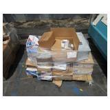 PALLET OF ASSORTED SIGNS AND BREAKERS