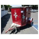 1999 CORN TOWABLE TRAILER WITH LP SMOKER