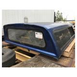 BLUE TRUCK CAMPER SHELL