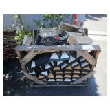 PALLET OF PARKING STONES AND MISCELLANEOUS