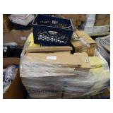 CABLES, RECEIVERS, PALLET OF ASSORTED ITEMS