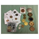 1 BAG WITH COINS, HISTORICAL COINS