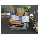 PALLET OF LIGHTS, VIDEO/AUDIO EQUIPMENT  AND MISCE