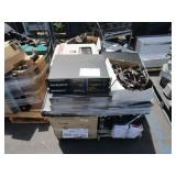 PALLET OF LIGHTS, COMPUTERS, MICROWAVE, MISCELLANE