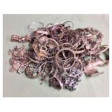1 BAG WITH SILVER TONE BANGLES AND BRACELETS