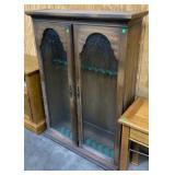 """Glass Front 2 Door Gun Cabinet: 40""""13""""56"""""""